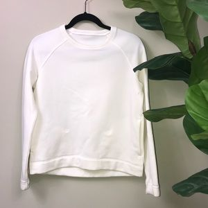 White Lululemon sweatshirt
